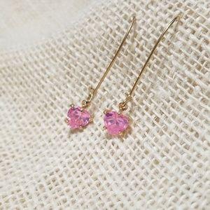 Vintage Heart Rhinestone /Crystal Dangle Earring